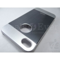 Premium Black Metallic Hard Back case Cover screen guard for Apple iPhone 4