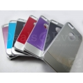 Premium Grey Metallic Hard Back case Cover screen guard for Apple iPhone 5