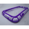 Purple Bumper Frame Cover Backless Carry Case for Samsung Galaxy S3 SIII i9300