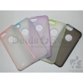 Transparent Red Silicone gel jelly Case Back Cover Pouch for Apple iphone 5