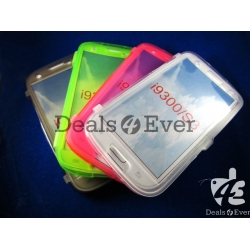 Transparent silicon jelly Case Cover Pouch table talk Samsung Galaxy i9300 S3