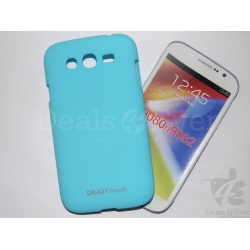 Turquoise Rubberized Case Hard Back Cover For Samsung Galaxy Grand i9082 i9080