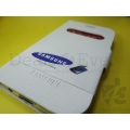 White Faux Leather Caller ID Flip Case Cover Pouch for Galaxy Grand i9082