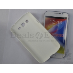White Silicone Case Hard Back Cover Pouch For Samsung Galaxy Grand i9082 i9080