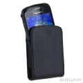 Blackberry Leather Pocket Pouch Black for BlackBerry Curve 9360