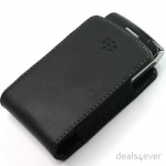 Blackberry Leather Pocket Pouch Black for BlackBerry Curve 9220