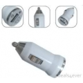Car charger works with any usb cable 5V output best for iPhone iPod mp3 player-black/white