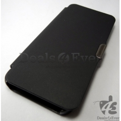 New Premium Black Hard Shell table talk Flip Case Cover pouch Apple iPhone 5