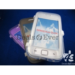 transparent Gray silicon jelly Case Cover tabletalk samsung galaxy Ace S5830