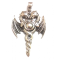 Dragon pendant- sterling silver