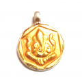 Ganesh Pendant in gold-silver