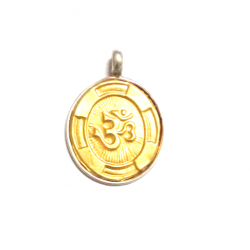 Om Pendant In Gold Silver
