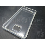 Transparent Clear Silicone jelly gel case back cover for Samsung Galaxy S2 i9100