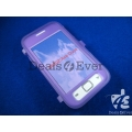 Purple silicon jelly Case Cover pouch table talk samsung galaxy S6802 Ace Duos