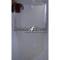 Clear white Silicon gel jelly Case Cover Pouch for Sony Xperia Miro ST23i