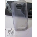 Silicon Silicone gel jelly Case Cover Pouch Nokia Asha 311 Asha311 smokey grey