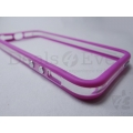 transparent Violet Apple iPhone 5 5G Bumper Case cover Frame Metal finish Button