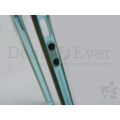 for Apple iPhone 5 5G Transparent Bumper Case cover Frame Metal finish Buttons