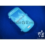 Blue silicon jelly gel Case Cover pouch table talk samsung galaxy i8190 S3 mini