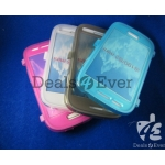 Pink silicon jelly gel Case Cover pouch table talk samsung galaxy i8190 S3 mini