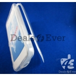 Transparent silicon jelly Case Cover pouch table talk samsung galaxy i8530 Beam