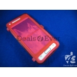 Red silicon jelly gel Case Cover pouch table talk samsung galaxy i9070 Advance