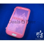 transparent Pink silicon jelly Case Cover table talk Samsung Galaxy i9300 S3