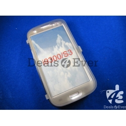 transparent Gray silicon jelly Case Cover table talk Samsung Galaxy i9300 S3