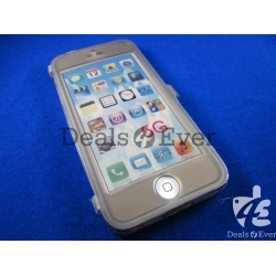 Gray soft skin silicon jelly gel Case Cover table talk for Apple iPhone 5