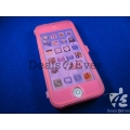 Pink soft skin silicon jelly gel Case Cover pouch table talk Apple iPhone 5
