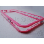 New Transparent Pink Apple iPhone 5 5G Bumper Case cover Metal finish Buttons