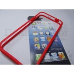 For Apple iPhone 5 5G New Transparent Red Bumper Frame Case cover protactor