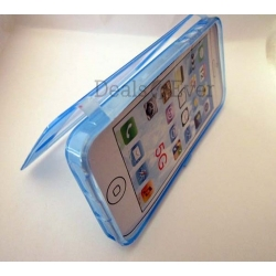 Original unique Silicone skin jelly Case Cover cum table talk Pouch for iphone 5
