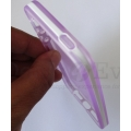 Transparent Purple Silicone gel jelly Case Back Cover Pouch for Apple iphone 5