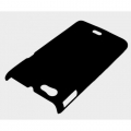 Black Premium Rubberized Hard Back Case Cover Pouch For Sony Xperia Miro ST23i