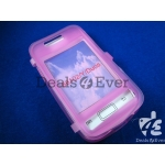 Transparent Pink silicon jelly Case Cover table talk samsung galaxy S6102 Y Duos