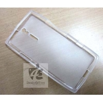 transparent WHITE S-LINE SILICONE GEL CASE COVER FOR SONY XPERIA S LT26I