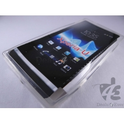 New Transparent Sillicone gel jelly Back Case Cover Pouch for Sony Xperia U