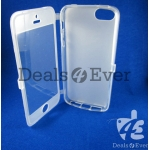 Transparent soft silicon jelly gel Case Cover pouch table talk Apple iPhone 5
