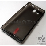 Black soft silicon jelly gel Back TPU Case Cover pouch for ST 25i xperia U St25i