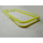 Apple iPhone 5 5G Bumper Transparen yellow Case cover Frame Metal finish Buttons